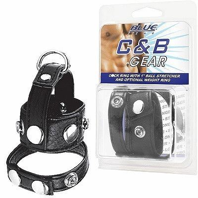 <Blue Line>C●ck Ring With 1Ball Stretcher And Optional Weight Ring